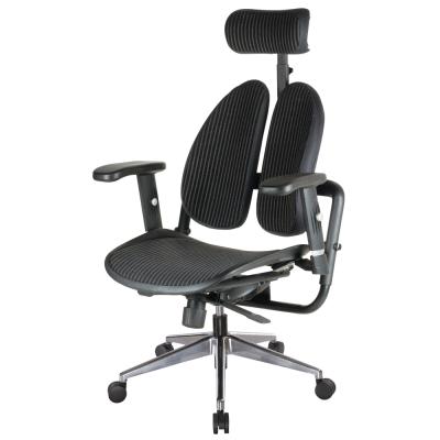 Bernice-德國專利雙背多機能網布電腦椅(背墊加厚款)-70x70x114~123cm
