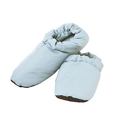 亞曼達Amanda 天然羽毛保暖拖鞋 居家鞋 羽絨鞋(藍)