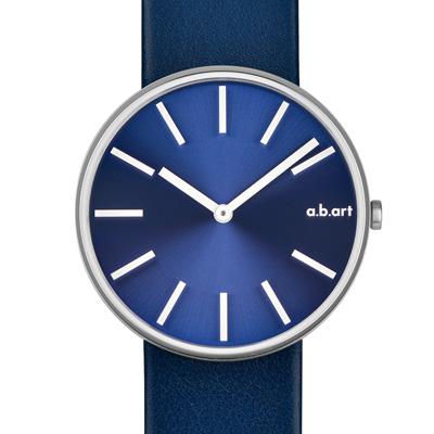 a.b.art DL系列 光影美學極簡腕錶-藍/39mm