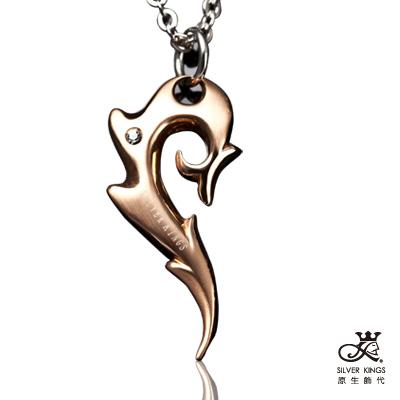 原生飾代SilverKings-幸運數字 316L白鋼項鍊-金