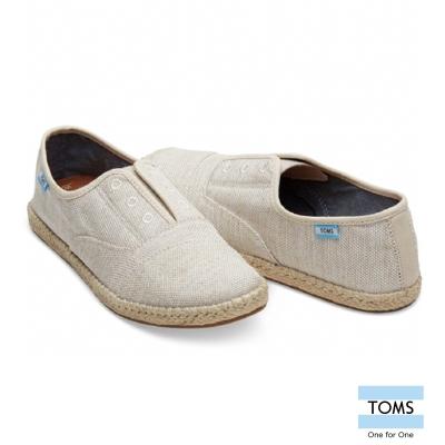 TOMS 帆布草編休閒鞋-女款