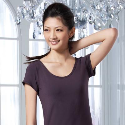 華歌爾 涼爽衣 M-LL小蓋袖款式(梅李紫)