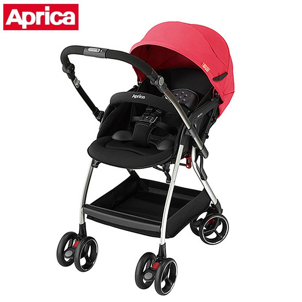 Aprica 四輪自動定位導向型嬰幼兒手推車 Optia新視野 熱力紅 @ Y!購物