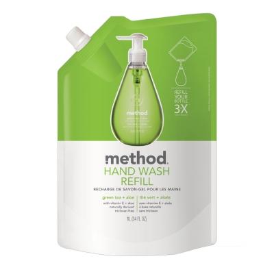 Method 美則 綠茶蘆薈天然洗手乳(補充包) 1000ml