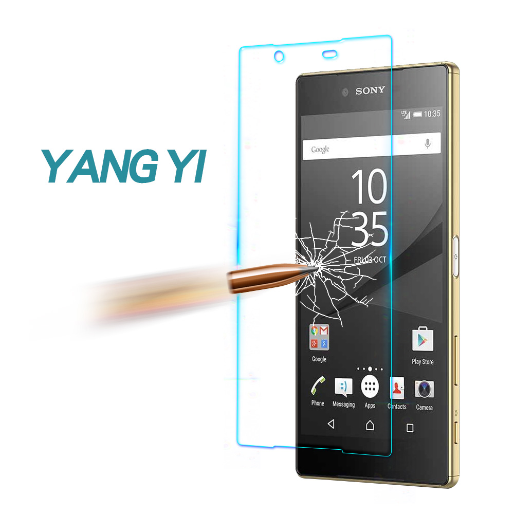 YANG YI 揚邑 SONY Z5 Premium 防爆防刮防眩弧邊 9H鋼化玻璃保護貼