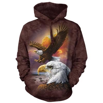 摩達客 美國進口The Mountain鷹與雲 長袖連帽T恤