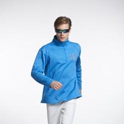 Sunrise藍色長袖輕刷毛上衣-L90015