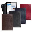 XM iPad 2/iPad 3/iPad 4 魔幻編織立架側扣皮套