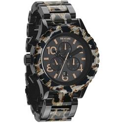 NIXON The 40-20 CHRONO 強眼魅力鋼帶腕錶-黑x玳瑁/42mm