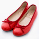 DN 優雅通勤 MIT特殊壓紋舒適娃娃鞋 紅 product thumbnail 1