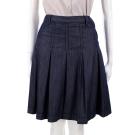 MARELLA 藍色牛仔單寧抓褶及膝裙(附腰帶)