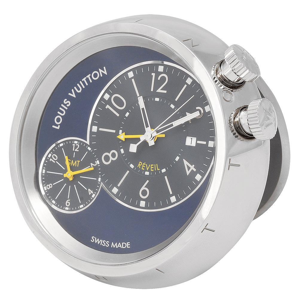 LV Q181E0 Tambour 雙時區旅行鬧鐘(附Damier錶殼)
