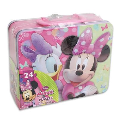 派對盒 PartyBox 24塊迪士尼米妮拼圖-鐵製餐盒設計包裝款