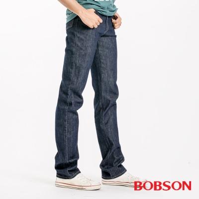 【BOBSON】男款日本進口布中直筒褲(藍52)