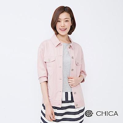 CHICA 學院女孩馬卡龍色設計夾克(2色)