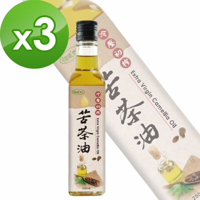 樸優樂活 冷壓初榨苦茶油(250ml/瓶)X3件組