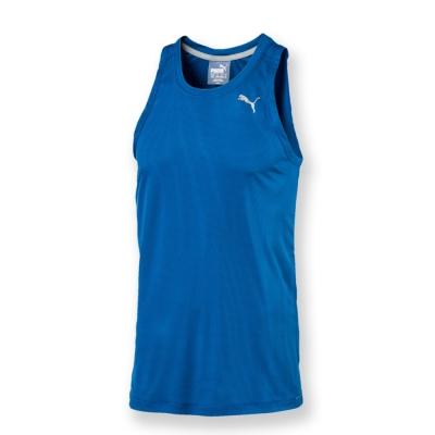 PUMA-男性慢跑系列吸排運動背心-寶石藍-歐碼