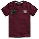 101原創 世足限定T-葡萄牙短袖T恤上衣-暗紅