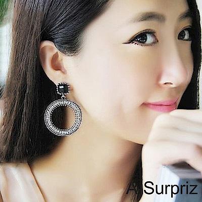 A-Surpriz 鑽石摩天輪圓形耳環