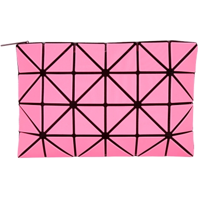三宅一生BAO BAO ISSEY MIYAKE LUCENT 4x6 粉色霧面萬用扁包