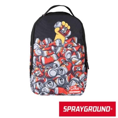 SPRAYGROUND DLX聯名系列 The Simpson 辛普森喝啤酒潮流筆電後背包