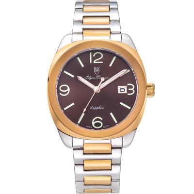 奧柏表 Olym Pianus 聚焦經典石英腕錶-雙色x咖啡  5706MSR