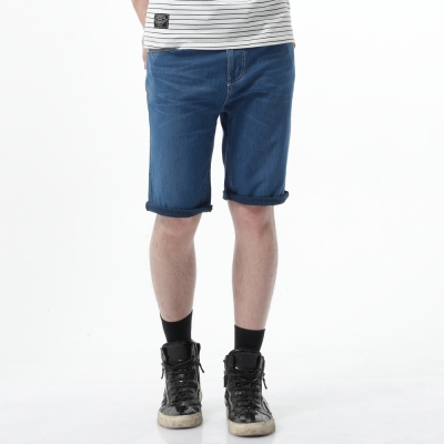 EDWIN-加大碼迦績褲-JERSEYS迦績涼爽工作短褲-男-石洗綠