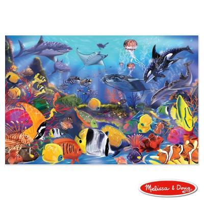 美國瑪莉莎 Melissa & Doug 大型地板拼圖 - 熱帶海洋 48 片
