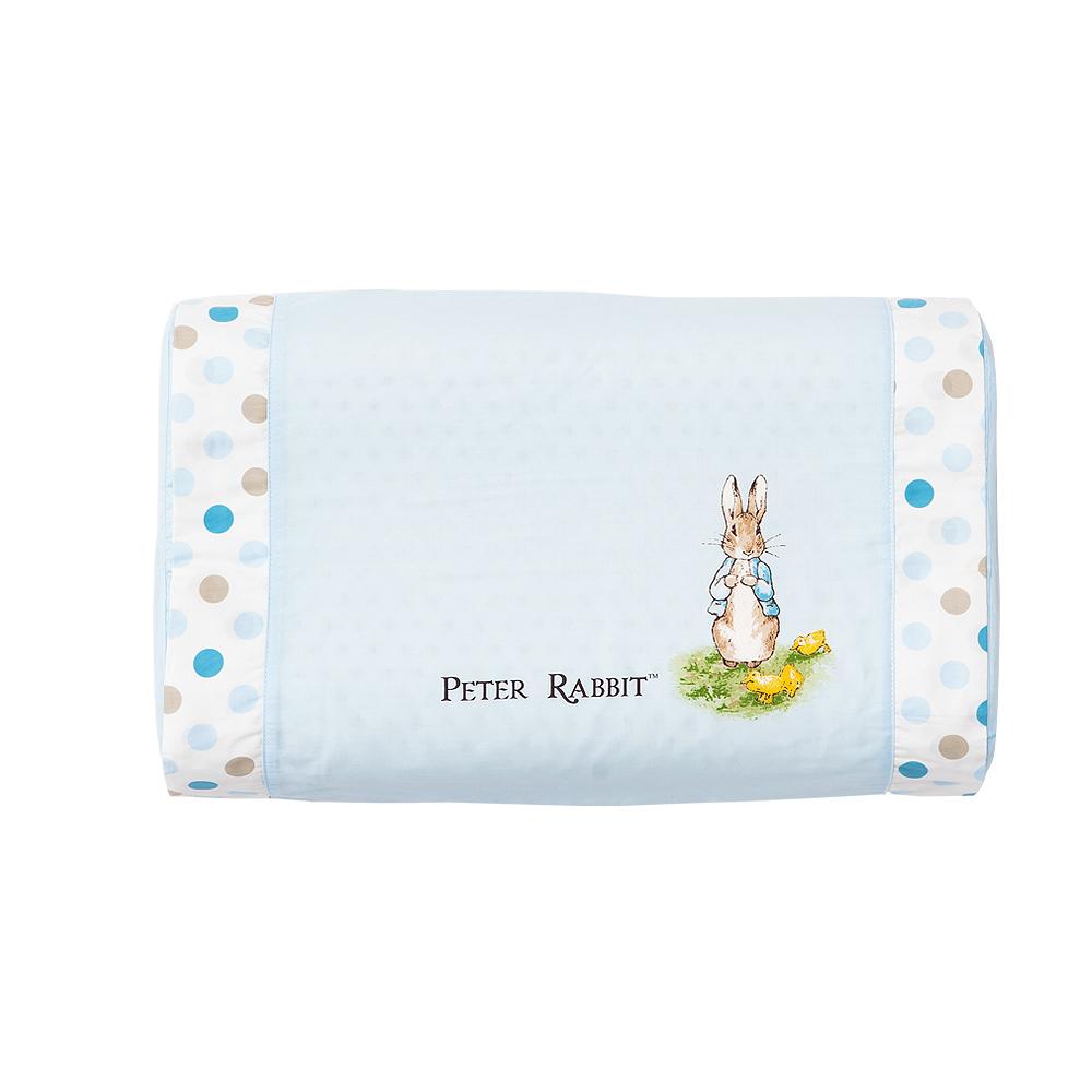 奇哥 花園比得兔乳膠中童枕-藍色 (附枕套)