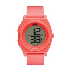 NIXON TIME TELLER DIGI潮流行者電子運動錶-螢光珊瑚紅-40mm