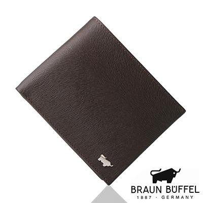 BRAUN BUFFEL - 提貝里烏斯系列8卡中翻窗格零錢皮夾 - 咖啡色