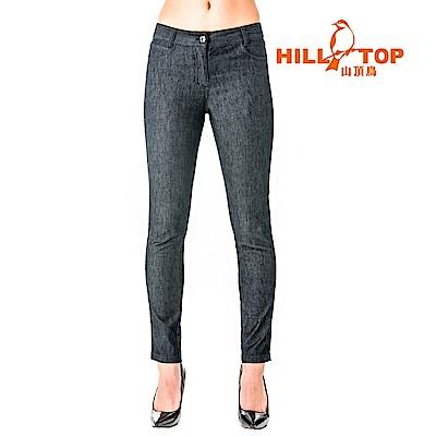 【hilltop山頂鳥】女款吸濕排汗彈性牛仔褲S07FF7-黑