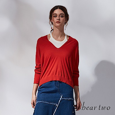 beartwo 自然不造作垂墜親膚針織衫(2色)