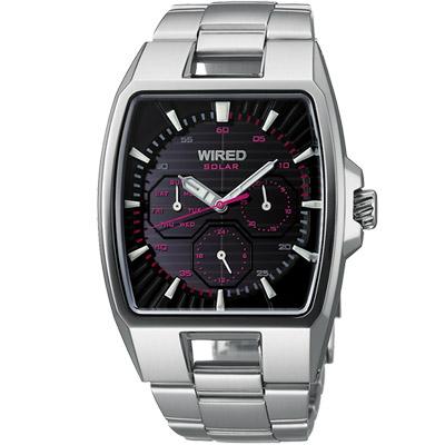 WIRED-HYBRID日雜時尚腕錶-AUB031X-37x38mm