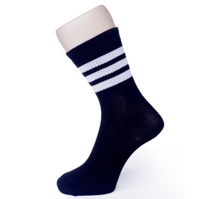 MIT 復古休閒條紋棉襪 二雙  SE964