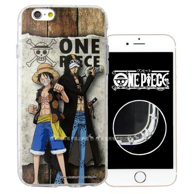 航海王夥伴系列 iPhone 8/iPhone 7 空壓殼(魯夫&羅)