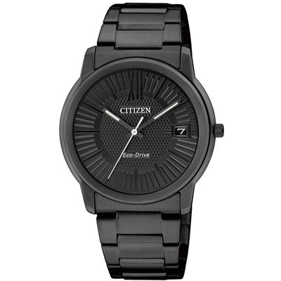 CITIZEN Eco-Drive 心動奇蹟光動能腕錶(FE6015-56E)-IP黑/32mm