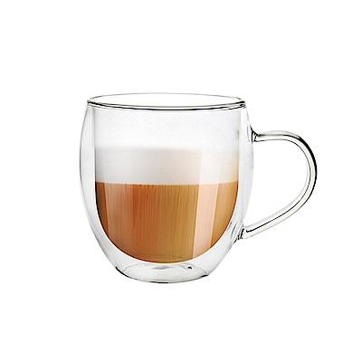 FUSHIMA富島 雙層耐熱玻璃杯540ML(把手)