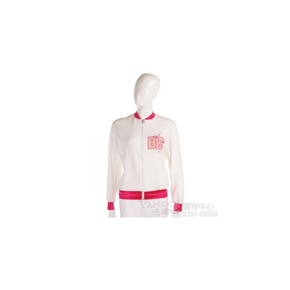 Blugirl 白/桃紅色運動外套