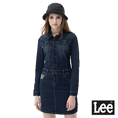 Lee 牛仔連身洋裝-女款-藍