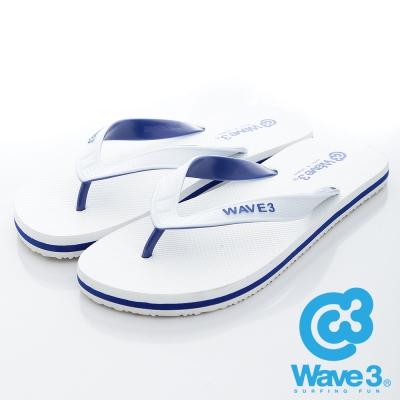 WAVE3【男】獨家設計ESP-四代人字夾腳拖鞋~白