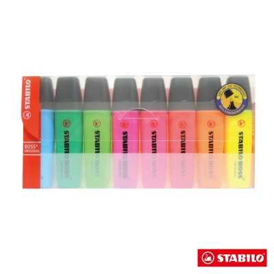 Stabilo 螢光系 - BOSS 螢光筆 8色