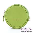 YUCCA - 圓形馬卡龍色鑰匙零錢包 - 綠色 D0043043C45