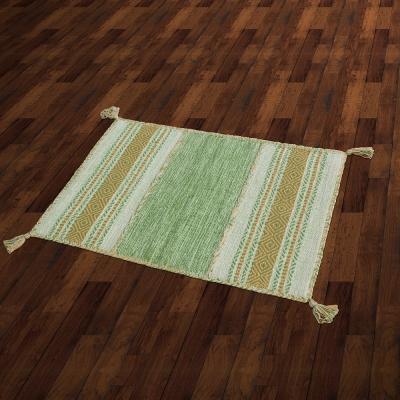 【Ambience】Kilim 手織純棉地毯 -綠色 (60x90cm)