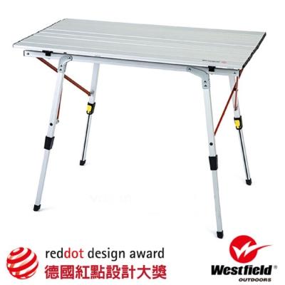 【WEST FIELD】超輕航空鋁合金折疊鋁捲桌(高度無段可調.4.2kg)