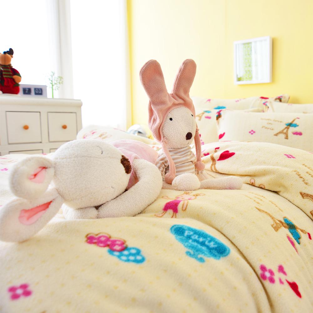 Ania Casa 愛戀巴黎米 加大四件式 搖粒絨 台灣製 床包被套四件組