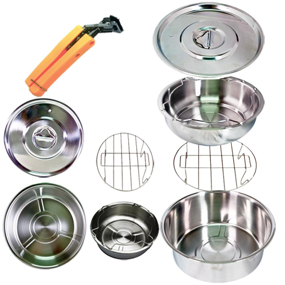 天蠶 露營 廚房 兩用304不鏽鋼超值鍋組