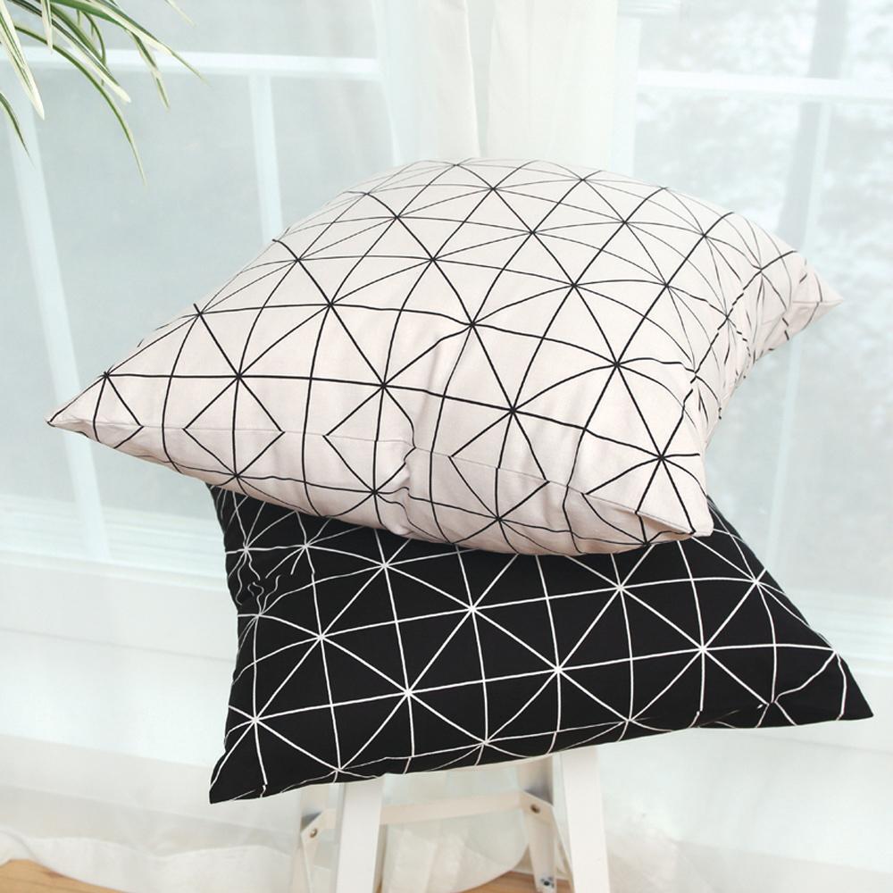 IN HOUSE-純棉抱枕-經典系列-米字格