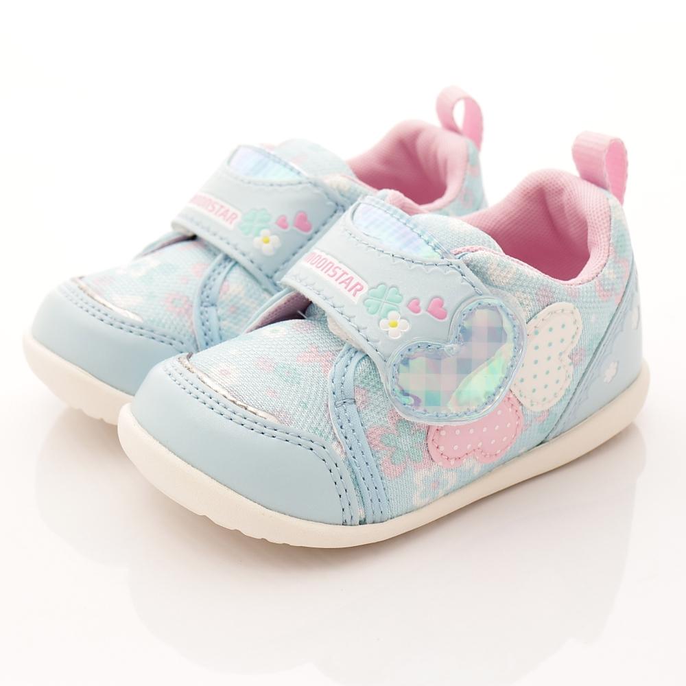 日本月星頂級童鞋 甜心機能款 FO309淺藍(寶寶段)HN