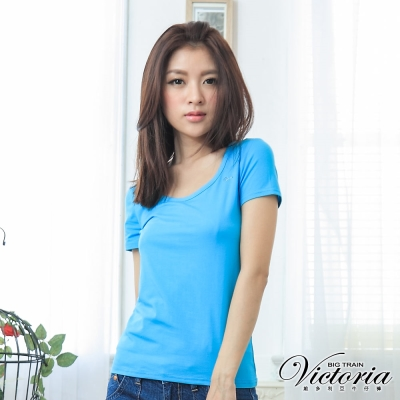 Victoria MIT抗菌涼感短T-女-水藍